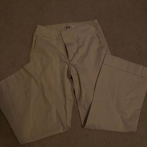 Cream and pink pinstripe Banana Republic Pants sz8